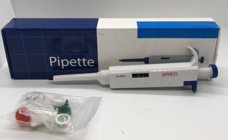 20-200uL Micro Pipette Single-Channel Pipettors,  Adjustable Volume Pipette