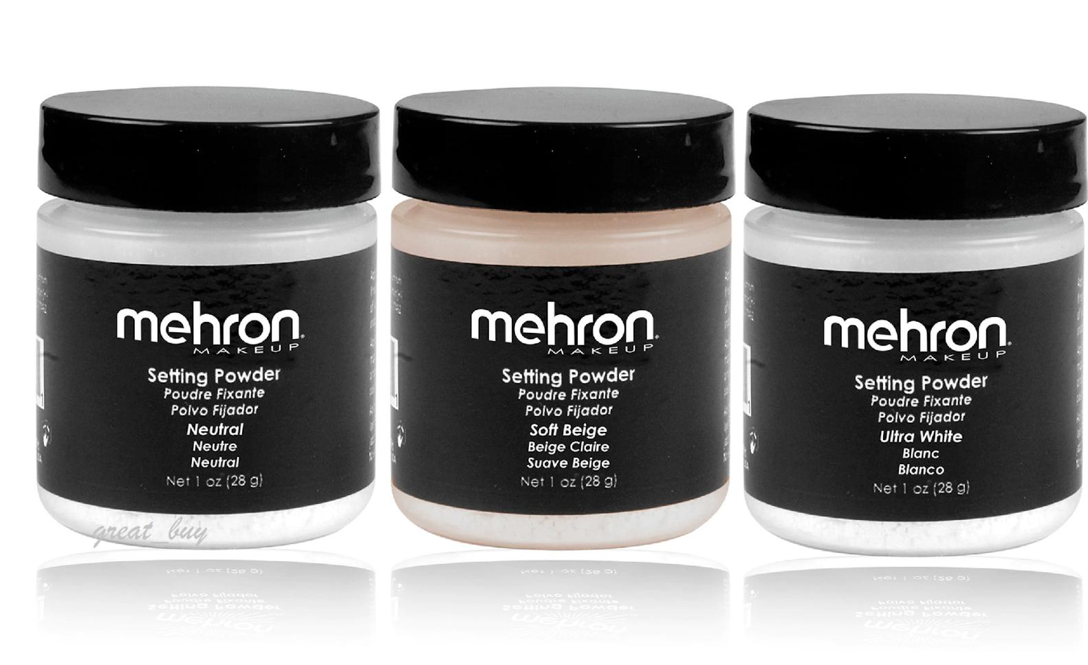 Mehron UltraFine Setting Powder Neutral,Soft Beige,Ultra Whi