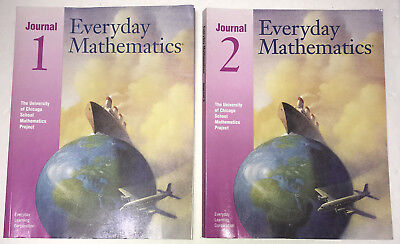 (Everyday Mathematics Fourth Grade 4 Student Math Journal Set Vol 1 & 2 - 1999)