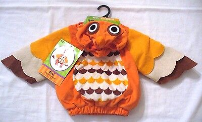 Owl Plush Costume Infant 9-18 months Hooded Jumpsuit - Owl Infant Costume