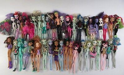 8+ Lb Bulk Lot of Loose, Assorted, Mattel Monster High Toy Fashion Dolls - LOT