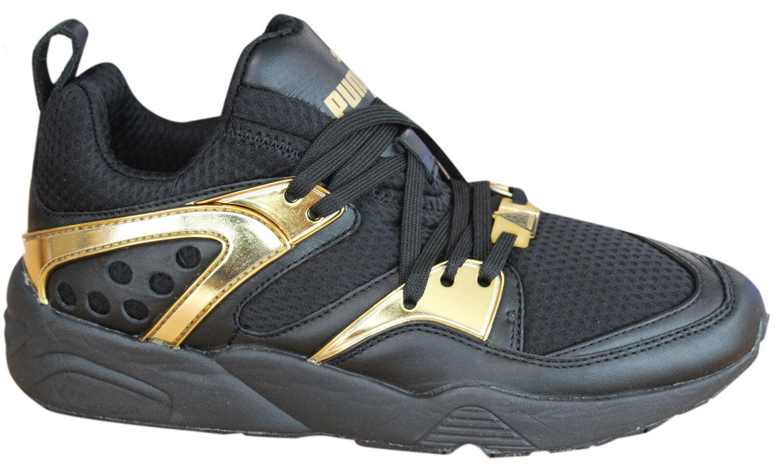 Puma Blaze Of Glory Metallic Oro Hombre Trainers Lace Up Zapatos Negro Oro Metallic 61851 02 M3 f63938
