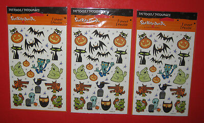New American Greetings Halloween Decor Tattoo Sheets Funny Cute Cartoon - Cute Halloween Cartoons