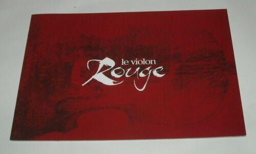 1999 The RED VIOLIN FRENCH MOVIE PRESSBOOK PRESS BOOK SAMUEL L JACKSON