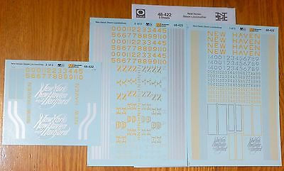 Microscale Decal O #48-422 (3 Sheet) New Haven and Hartford Steam Locomotive