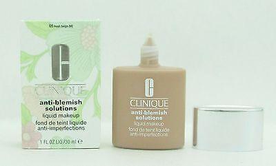 Clinique Anti Blemish Solutions Liquid Makeup   05 Fresh Beige 1 Oz  30 Ml Nib