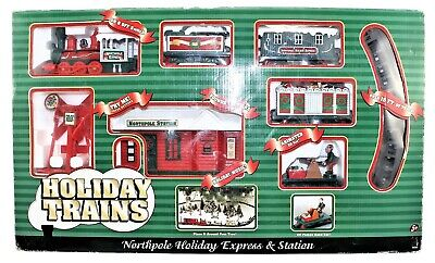 Christmas Train Set Northpole Holiday Express & Station Holiday Music Sounds