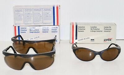 Uvex Lot Of 3 Vintage Safety Eyewear Glasses Bandit Skyper
