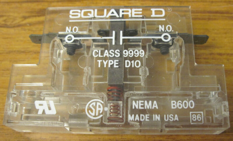 Square D 9999 D10 Auxiliary Contact Normally Open