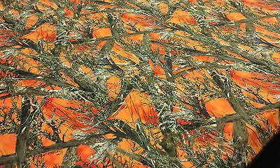 500D Coated Cordura Blaze Orange MC2 Camo Fabric 60