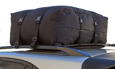 (Car Van Suv Roof Top Cargo Rack Carrier Soft-Sided Waterproof Luggage Travel Bag)