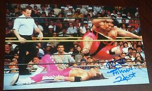 Bret-Hart-Signed-1999-Wrestlemania-IX-Live-4x6-Photo-Card-WWE-Auto-039-d-The-Hitman