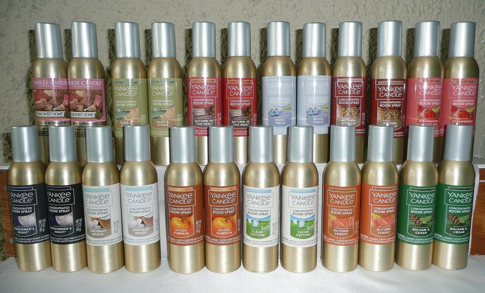 Lot 2 NEW YANKEE CANDLE Concentrated Room Spray - FREE SHIPP