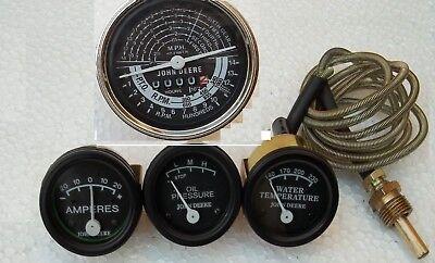 John Deere Tractor Tachometer Ammeter Oil Pressure Temperature Gauge Set Replace