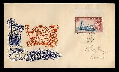DR WHO 1954 BARBADOS FDC ELIZABETH II PICTORIAL  C242877