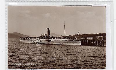 "STEAMER S.S. ""PRINCE EDWARD"" AT BALLOCH: Dunbartonshire postcard (C26788)"