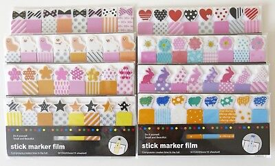 Animal Kawaii Index Sticky Film Tabs Page Markers Organiser Dividers