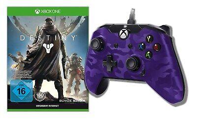 PDP Wired Controller Microsoft Xbox One und PC violett Camo und Destiny Neu Ovp Pc-violett