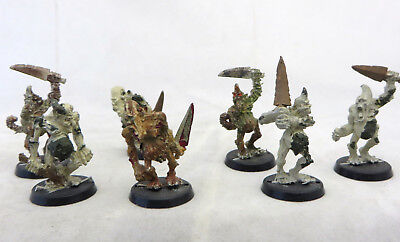 Warhammer 40K Chaos Daemon demon Plaguebearers army lot 8 metal oop plague beare