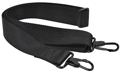 Duffle Bag Replacement Shoulder Strap Adjustable To 50'' Heavy Duty Nylon Black