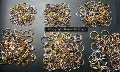 600 Mixed color & 6 sizes open JUMP RINGS assortment FPJ091