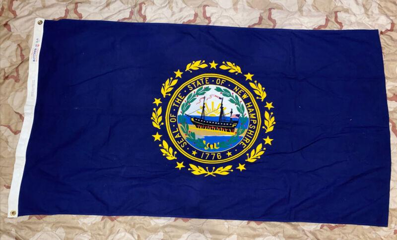 Vintage New Hampshire State Flag 100% Cotton Bulldog Bunting 3