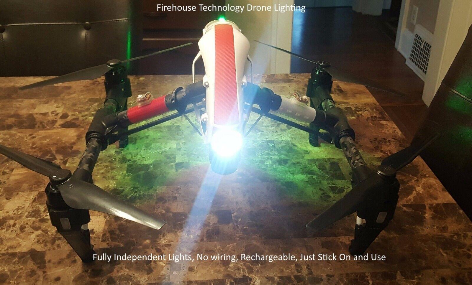 DRONE DUAL CREE STROBE LIGHT NAVIGATION KIT DJI INSPIRE 1 2 PHANTOM MAVIC