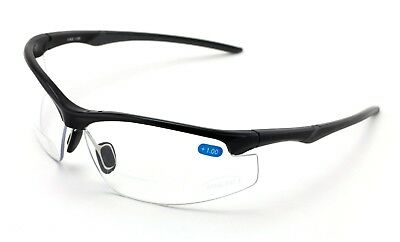 Bifocal Reader Performance Protective Safety Glasses Clear Lens Reading Z87 Cert