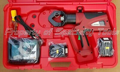 Burndy Pat644li Hydraulic Battery Operated Crimper Dieless Crimping Tool 12 Ton