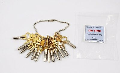 New 14 Various sizes Pocket watch winding keys for old vintage pocket watches
