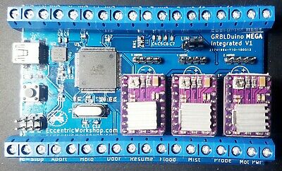 Grblduino Mega Integrated - 3 Axis All In One Grbl V1.1 Arduino Cnc Controller