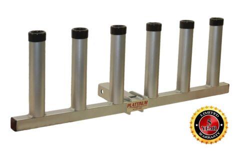 Plattinum Pivot Receiver Hitch Fishing Rod Holder All Aluminum Made in USA