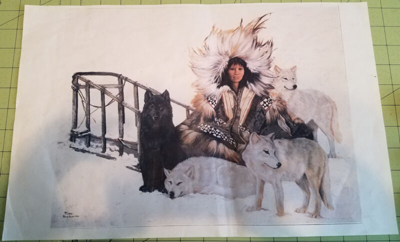 Maiden with Wolves and Sled Poster