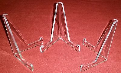 "~12 Small Plus 3-3/8"" Clear Acrylic Display Stand Easels"