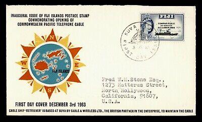 1963 FIJI FDC COMPAC CABLE