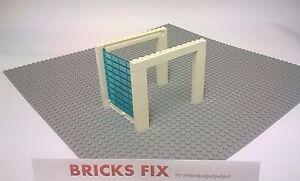 LEGO GARAGE DOOR WHITE 9 BRICKS HIGH FULL ASSEMBLY - CITY GARAGE POLICE CUSTOM