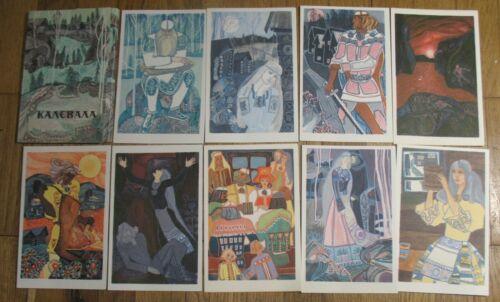 12 Russian Child Post card Fairy-tale PC Karelian Finnish epic Story Kalevala Se