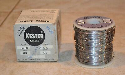 Kester Solder Sn 60 Alloy .025 Dia. 282 Flux Core 58  Box 1 Lb.