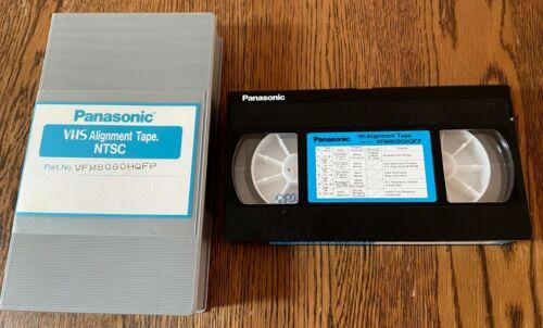 VHS Alignment Tape PANASONIC VFM8080HMFP - Monoscope 1,2,3, Color Bars, Con Sig