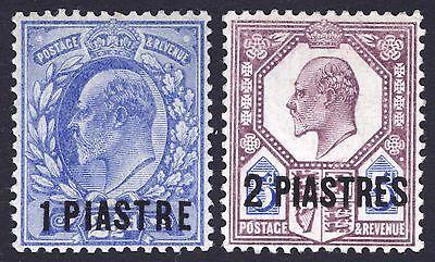 British Levant-Turkey 1905 1pi-2pi on GB SG 13-14 Sc 13-14 LMM/MLH Cat £70($89)