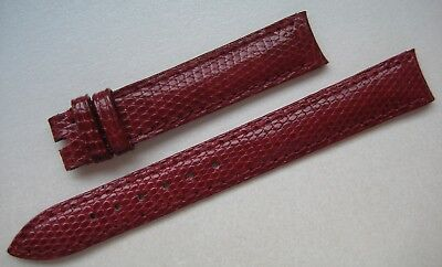 GENUINE PIAGET WATCH STRAP BAND RED SHINY LIZARD SKIN LEATHER 13 mm x 12 mm NEW