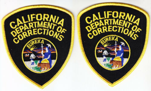 CDC California Dept of Corrections 2 FULL COLOR shoulder patches CA police