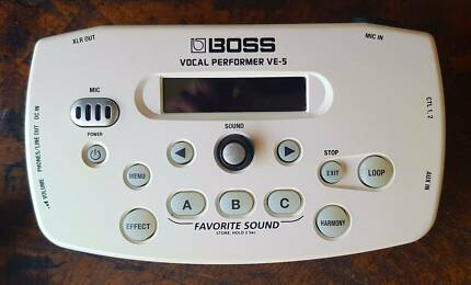Boss Vocal Performer VE-5 with long power adaptor, Mic-Stand Clip