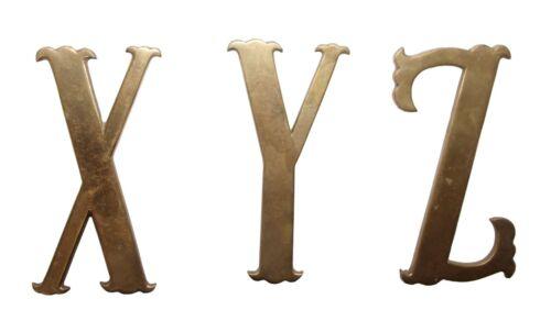 Small 7.75 in. XYZ Brass Letter Set