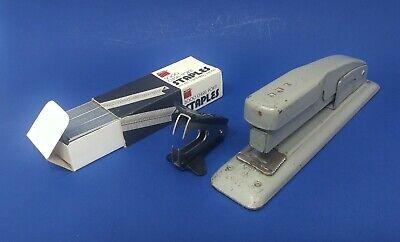 Mid-century Swingline Desk Usa Metal Stapler With 5000 Staples Staple Remover
