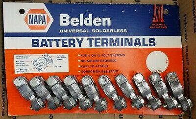 Vintage NAPA Car Parts BELDEN Gas Station Battery Terminals Advertising Display