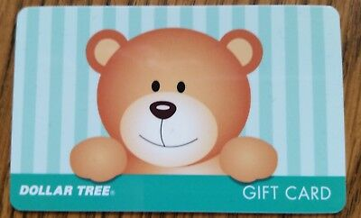 New Rare DOLLAR TREE Collectible Gift Card Cute TEDDY BEAR Doll NO CASH VALUE  Dollar Tree Gift Cards