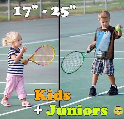 AUSWAHL: Kids+Junior Racket/Schläger für Anfänger & Kinder (mit Größen-Tabelle) (Kinder Größentabelle)