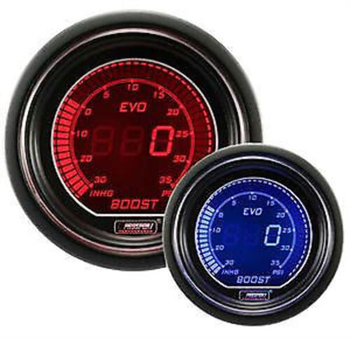 Prosport Evo Series 52mm Digital Boost Turbo Gauge Red & Blue