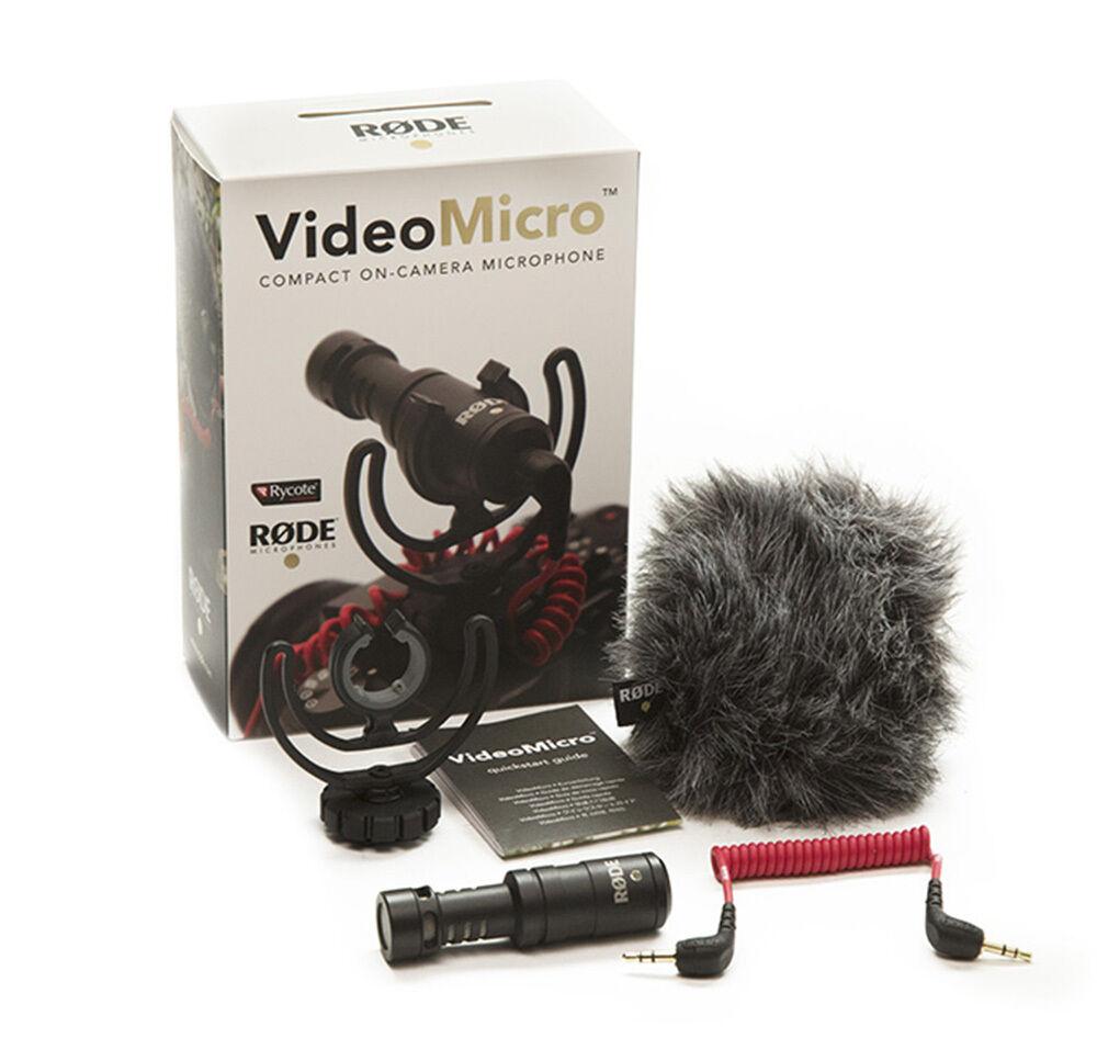 Rode VideoMicro Microfono Direzionale Compatto per fotocamere DSLR e Videocamere